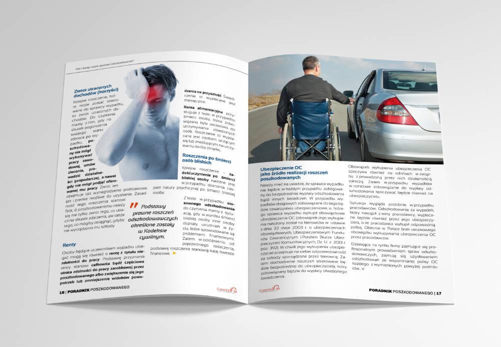 Brochure printing design - 40 page - guidebook for injured