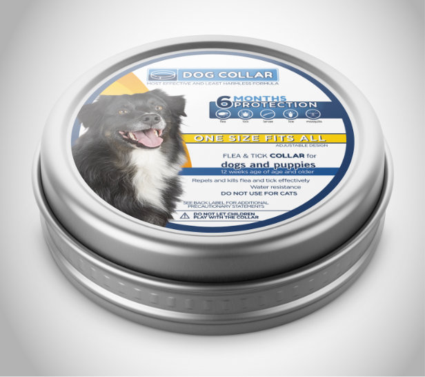 Product label for dog collar