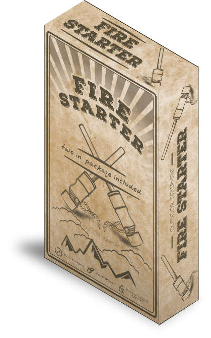 Vintage style of package for FireStarters
