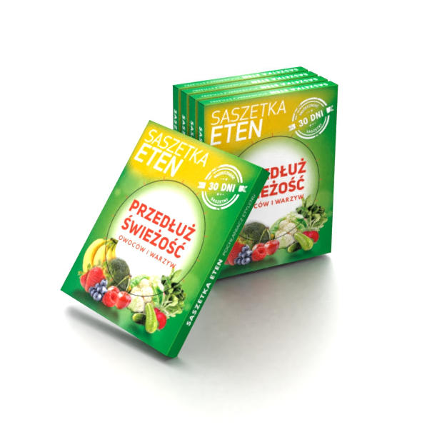 Product box package design for Ethen sachet